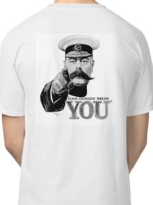 World War One, Lord Kitchener, WW1, Your Country needs you! Recruitment Poster Classic T-Shirt