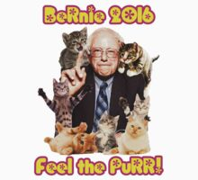 Bernie 2016 Feel the Purr! One Piece - Long Sleeve