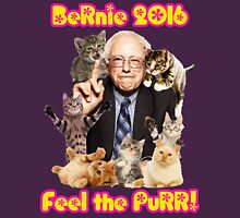 Bernie 2016 Feel the Purr! Womens Fitted T-Shirt