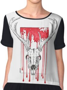 Red Stag Chiffon Top