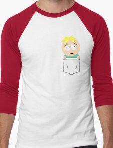 Pocket Butters Men's Baseball ¾ T-Shirt