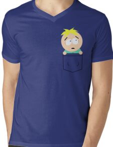 Pocket Butters Mens V-Neck T-Shirt