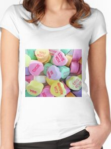 Valentine's Day Hearts Women's Fitted Scoop T-Shirt