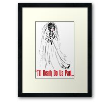 Black Widow Bride Framed Print