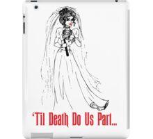 Black Widow Bride iPad Case/Skin