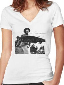 Sylvia Pankhurst - I would rather be a Rebel than a Slave Women's Fitted V-Neck T-Shirt