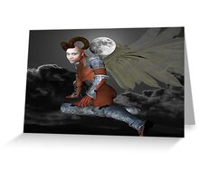 Moon Demon Greeting Card