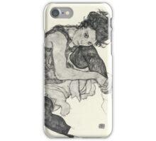 Egon Schiele - Zeichnungen I. 1917  Expressionism Woman Portrait iPhone Case/Skin