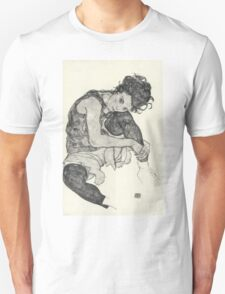 Egon Schiele - Zeichnungen I. 1917  Expressionism Woman Portrait Unisex T-Shirt