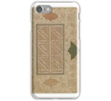 Two Leaves of Manuscript, 17th Century. Calligraphy iPhone Case/Skin