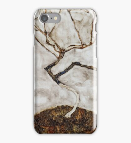 Egon Schiele - Small Tree in Late Autumn 1911  Expressionism Landscape iPhone Case/Skin