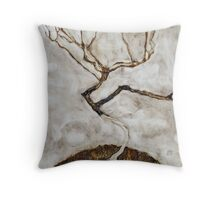 Egon Schiele - Small Tree in Late Autumn 1911  Expressionism Landscape Throw Pillow