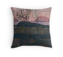 Egon Schiele - Setting Sun 1913  Expressionism Landscape Throw Pillow