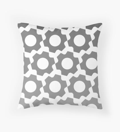 Gears - Fade Throw Pillow