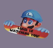 Luigi is watching you! Kids Tee