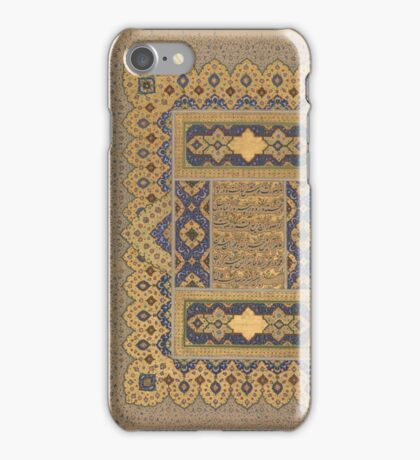 Unwan from the Shah Jahan Album Calligrapher, Mir 'Ali Haravi iPhone Case/Skin