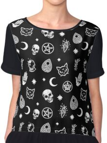 Witch Pattern Chiffon Top