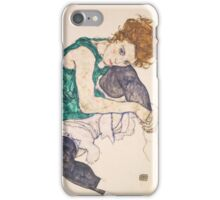 Egon Schiele - Seated Woman with Legs Drawn Up Adele Herms 1917 iPhone Case/Skin