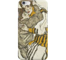 Egon Schiele - Schiele's Wife with Her Little Nephew 1915 iPhone Case/Skin