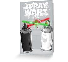 Spray wars Greeting Card