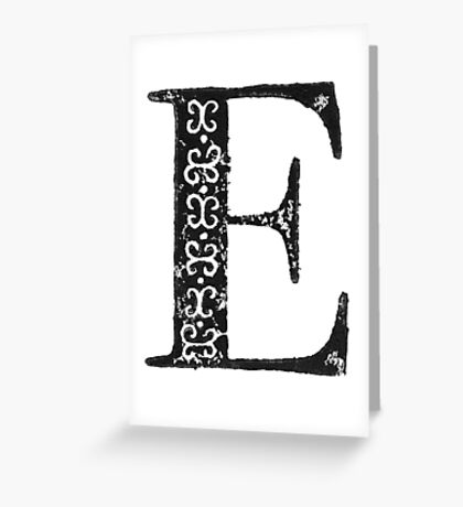 Serif Stamp Type - Letter E Greeting Card