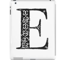 Serif Stamp Type - Letter E iPad Case/Skin