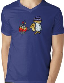 Secret Squirrel & Morocco Mole - Pixel Art Mens V-Neck T-Shirt
