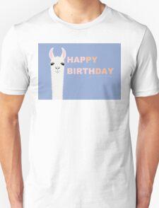 HAPPY BIRTHDAY LLAMA Unisex T-Shirt
