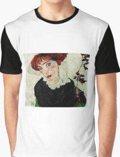 Egon Schiele - Portrait of Wally Neuzil 1912 Woman Portrait Graphic T-Shirt