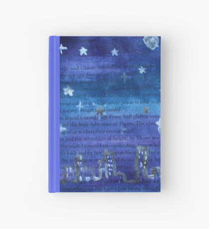 sky at night in a book  Hardcover Journal