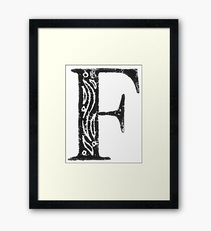 Serif Stamp Type - F Framed Print
