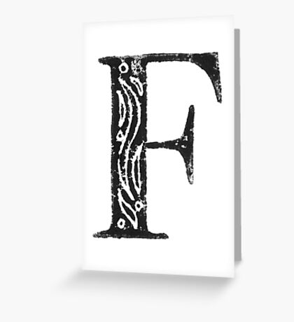 Serif Stamp Type - F Greeting Card
