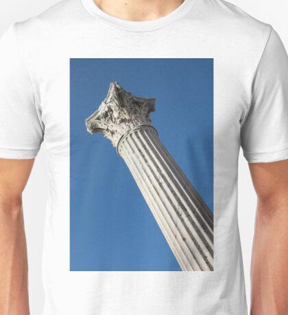 Classical Corinthian Column - Ancient Pompeii Graceful Beauty Left Unisex T-Shirt