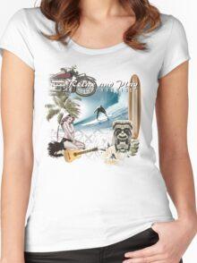 retro beach Women's Fitted Scoop T-Shirt