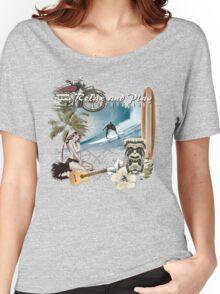retro beach Women's Relaxed Fit T-Shirt