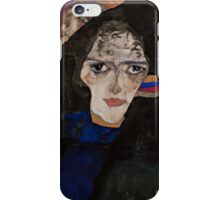 Egon Schiele - Mourning Woman 1912 Woman Portrait iPhone Case/Skin