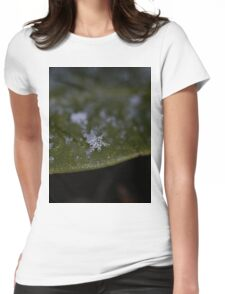 Snowflake On A Leaf Womens Fitted T-Shirt