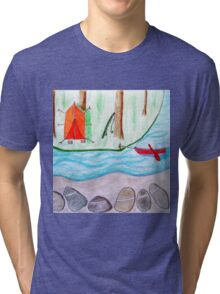 Camping on the island Tri-blend T-Shirt