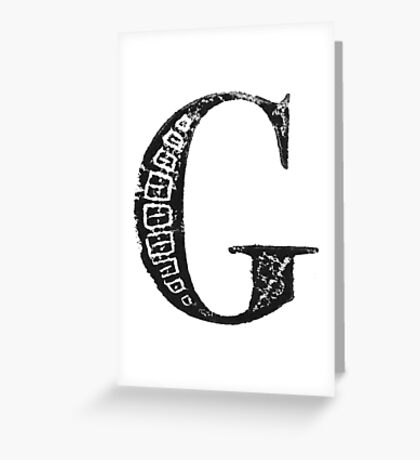 Serif Stamp Type - Letter G Greeting Card