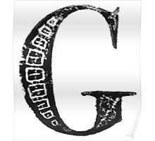 Serif Stamp Type - Letter G Poster