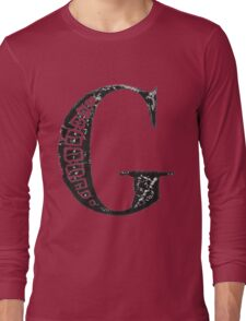 Serif Stamp Type - Letter G Long Sleeve T-Shirt