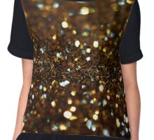 Golden Glitter Chiffon Top