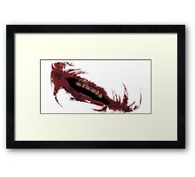 The Joker's Mouth of Madness Framed Print