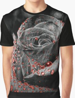 Red drops on Rose Petals Graphic T-Shirt