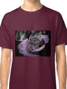 Purple drops on Rose Petals Classic T-Shirt