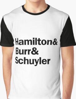 Hamilton - Hamilton & Burr & Schuyler | White Graphic T-Shirt