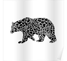 Bear with giraffe print Poster