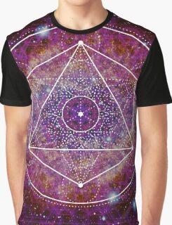 Sacred Geometry Nebula Graphic T-Shirt
