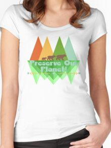 Preserve Our Planet Women's Fitted Scoop T-Shirt