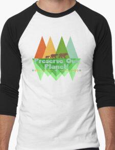Preserve Our Planet Men's Baseball ¾ T-Shirt